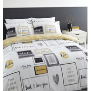 Sleep Dreams Duvet Set Ochre King (BD/48852/W/KQS/OC)