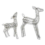 Micro Big Led Wire Deer Warm White (497453)
