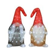 Led Acrylic Gnome 2 Asstd Cool White (499266)