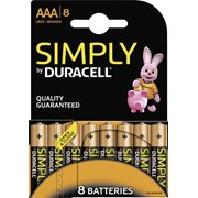 Duracell Simply Aaa 8s (MN2400B8SIM)