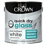 Crown Quick Dry Gloss Brilliant White 2.5lt