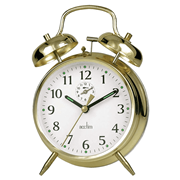 Saxon Brass Double Bell Alarm (12628)