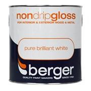Berger Non Drip Gloss Brilliant White 750ml (5089604)
