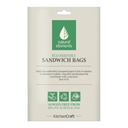 Kitchen Craft Kc Natural Elements Sandwich & Snack Bags 30pc (NESSBAGS30PC)