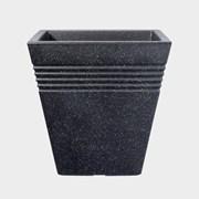 Stwrt Piazza Sq.planter Granite 34cm (5041139PP)