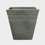 Stwrt Piazza Sq.planter M'green 40cm (5042063PP)
