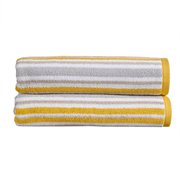 Kingsley Carnival Stripe Bath Sheet Saffron (10500630)