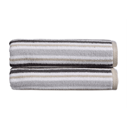 Kingsley Carnival Stripe Hand Towel Grey (10381030)