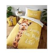 Giraffe Duvet Set Yellow Double (BD/47392/W/DQS/YE)