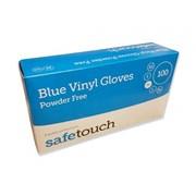Vinyl Powder Free Glove Blue  Aql1.5 100s Med (108735)