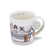 Cooksmart Curious Dogs Barrel Mug Its A Dogs Life (CM1752)