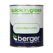 Berger Quick Dry Gloss Brilliant White 2.5lt