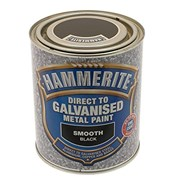 Hammerite Direct To Galvenised Smooth Black 750ml (5097049)