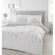 Meadowsweet Floral Duvet Set White/grey Double (BD/51080/W/DQS/WGY)