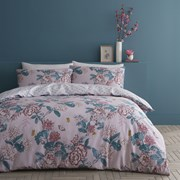 Peony Gardens Duvet Set Pink Double (BD/52690/W/DQS/PK)