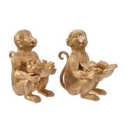 Monkey Tealight Holder Antique Gold Asstd (530246)