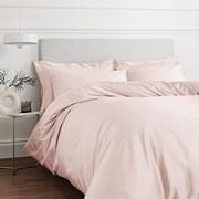 400tc Cotton Sateen Duvet Set Blush Double (BD/53098/R/DQS/BLH)