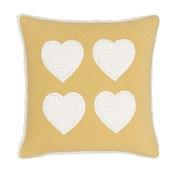Cosy Heart Cushion Ochre 43cm (BD/54016/W/CC43/OC)