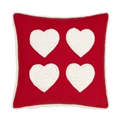 Cosy Heart Cushion Red 43cm (BD/54016/W/CC43/RE)