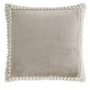 Velvet & Faux Fur Cushion Natural 55cm (DS/54492/W/CC55/NT)