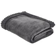 Velvet & Faux Fur Throw Charcoal 200cm (DS/54492/W/150200/CHC)