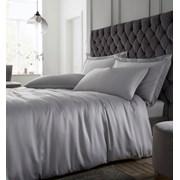 Silky Soft Satin Duvet Set Silver S/king (BD/55075/W/SKQS/SI)
