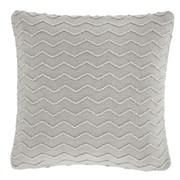 Chevron Knit Cushion Silver 43x43 (DS/55133/W/CC43/SI)