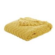 Chevron Knit Throw Ochre 125x150 (DS/55133/W/125150/OC)