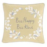 Bee Kind Cushion Grey/ochre 43x43 (DS/55134/W/CC43/GYO)