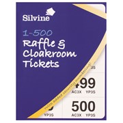 Silvine Raffle/cloakroom Tickets 500 (CRT500)