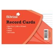"""Silvine Record Cards 6 x 4"""" 100 (564W)"""