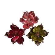 Pes Velvet Flower On Clip Asstd 16cm (610944)