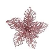 Pes Poinsettia On Clip w Glitter Blush Pink 23cm (629438)