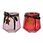 Glass Tealight Holder With Star Hanger 11.5cm (645288)