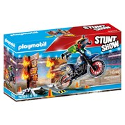 Playmobil Stunt Show Motocross with Fiery Wall (70553)