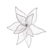Cotton Flower On Clip White (708517)