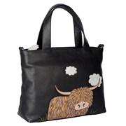 Bella Grab Bag Black  With Shoulder Strap (7205-33 BLACK)