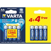 Varta High Energy Aa 4+4 Free 8s (74952)