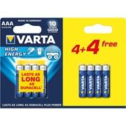 Varta High Energy Aaa 4+4 Free 8s (74955)