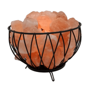 Sense Aroma Criss Cross Basket With Fire Rocks Lamp 18cm (L-7717)