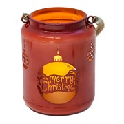 Fountasia Red Christmas Lantern With Led (79172)