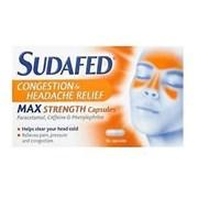 Sudafed Congestion & Headache Relief 6/5* 16s (79198)