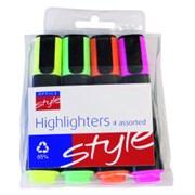 Office Style Highlighter Asst   . 4s (792390)