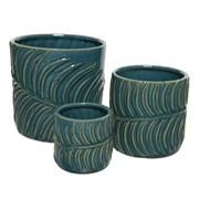 Stoneware Planter Set Of 3 (802504)