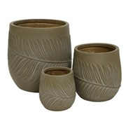 Fibre Clay Planter Taupe (802530LARGE)