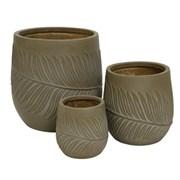 Fibre Clay Planter Taupe (802530MEDIUM)