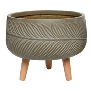 Fibre Clay Planter Taupe (802553LARGE)