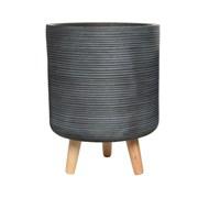 Fibre Clay Planter Light Grey 23cm (802554 SMALL)