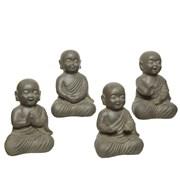 Fibre Clay Buddha Brown 35cm (802566)