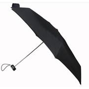 Totes Isotoner Totes Flat Plain Black Umbrella (8071BLK)